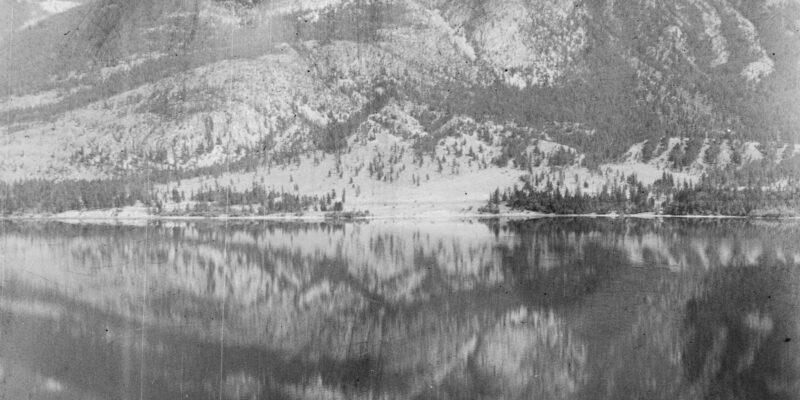 Columbia Lake viewed from old Highway 95, now Columbia Lake Road, early to mid 1950s